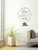 Love Makes House A Home Wall Vinyl Decals Sticker Quote Art-Storm Gray