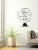 Love Makes House A Home Wall Vinyl Decals Sticker Quote Art-Black