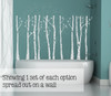 Birch Trees Branches and Birds Modern Wall Art Decal Stickers-Light Gray