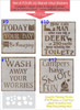 Stencil Stickers Decal for Wood Sign Painting Party Pallet DIY