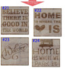 Stencil Sticker Decals for 12x12 Board Painting Parties, 10 pc