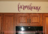 Farmhouse Lettering Vinyl Decals Wall Stickers Living Room Home Decor-Burgundy