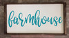 Farmhouse Lettering Vinyl Decals Wall Stickers Living Room Home Decor-Teal
