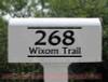 Street Address Mailbox Decals Vinyl Letters Custom Stickers-Black