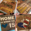 Stencil Sticker Decals for 12x24 for Board Wood Signs, 3 Different Designs