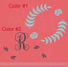 Monogram Floral Wreath Wall Sticker Vinyl Art Decals for Home Decor-2 Color