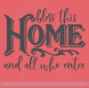 Bless This Home All Who Enter Kitchen Wall Decor Decals Vinyl Letters