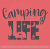 Camping Life RV Glamper Wall Stickers Decor Camper Vinyl Art Quote Decals