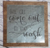 Metal on Wood Sign Laundry Words Vinyl Sticker Quote-Black