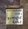 Wood Topper Metal Sign Start Each Day Quote, Hanging Wall Art-Black