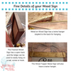 Fine Details on Hanging your Wood Sign Wall Art