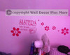 Girls Sisters Flowers Bedroom Wall Decal Fun Affordable