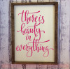 Beauty In Everything Inspirational Wall Quotes Vinyl Lettering Decals-Hot Pink