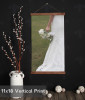 Canvas Wall Hanging Photo Prints With Wood Edges Rustic Wall Banner with full print edge 11x18 vertical