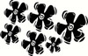 Flowers Dancing Wall Decal Vinyl Decal for Home Decor Girls