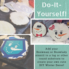 DIY Snowman and Snowlady Stencil on Log or other Round Substrate
