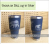 Mama Bear with Cubs Tumbler Personalized Mug Vinyl Decals for Cups-Glossy Silver