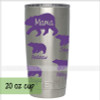 Mama Bear with Cubs Tumbler Personalized Mug Vinyl Decals for Cups-Glossy Plum