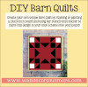 Barn Quilt Stencil Sticker Wall Art Triangle Square Block Pattern 24-In-sample design painted on wood sign