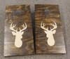 Deer Head Silhouette Decal or Stencil for Bean bag Cornhole Boards _Beige