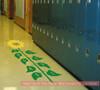 Sensory Path Floor Decal Sunflower Hopscotch School Activity Sticker Yellow/Grass Green