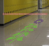 Sensory Path Floor Decal Sunflower Hopscotch School Activity Sticker Plum/Lime Green