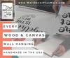 Handmade wood canvas