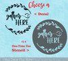 Decal for Circle Wood Sign Gather Here Letters Wreath Stencil or Sticker options