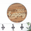 Decal for Circle Wood Sign Choose Happy Inspiring Quote Stencil or Sticker-Beige