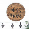 Decal for Circle Wood Sign Bless This Mess Mom Quote Stencil or Sticker-Black on wood sign