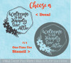Decal for Round Wood Sign Welcome Happily Ever After choose Stencil or Sticker