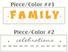 Two color vinyl Wall Decal Stickers - Family Celebrations with Months