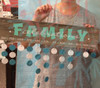 Family Celebrations Sticker with Months - Finished DIY Board