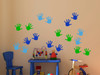 Wall Decals Handprint Kids Hand Vinyl Stickers for classroom, daycare, preschool-traffic Blue, Lime Green, Ice Blue