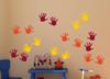 Red Yellow Orange SALE Handprint Design Vinyl Stickers Wall Decals 18pc 3.5-Inch