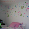 multi-colored wall sticker circles in Girls Room