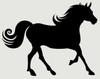 Horse Walking Silhouette Wall Sticker