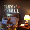 Play Ball Wall Decal Art Cutout Lettering Room White