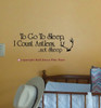 To Go To Sleep I Count Antlers Not Sheep Wall Decal for Nursery Decor