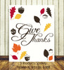 Fall Leaves Set of 15, Acorns and Give Thanks Quote Wall Decals