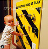 Caution Boys at Play Decal Vinyl Sticker Lettering with Stripes Large 23x30
