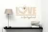 Love Is A Four Legged Word Pet Wall Decal- Beige and Tan