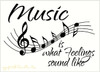 Music Staff Wall Art Decor with Quote What Feelings Sound Like
