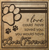 If love could have saved you, you would have lived forever Pet Wall Decal Quote Tile Sizing Chocolate Brown