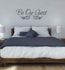 Guest Room Wall Decal Sticker for Wall Decor-Black