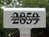 Personalized Mailbox Decals Vinyl Stickers with Number Street Name