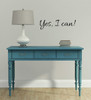 Affirmation Quote Wall Decal Vinyl Sticker Lettering Yes I Can