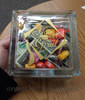 Graduation Decal Vinyl Sticker Gift Idea for Glass Block filled with money and candy