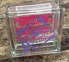 Graduation Vinyl Sticker Decal on Glass Block Gift Idea