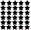 2 inch Star Wall Vinyl Stickers Shapes Layout it will arrive - easy peel n stick application for Room Decor or School Art